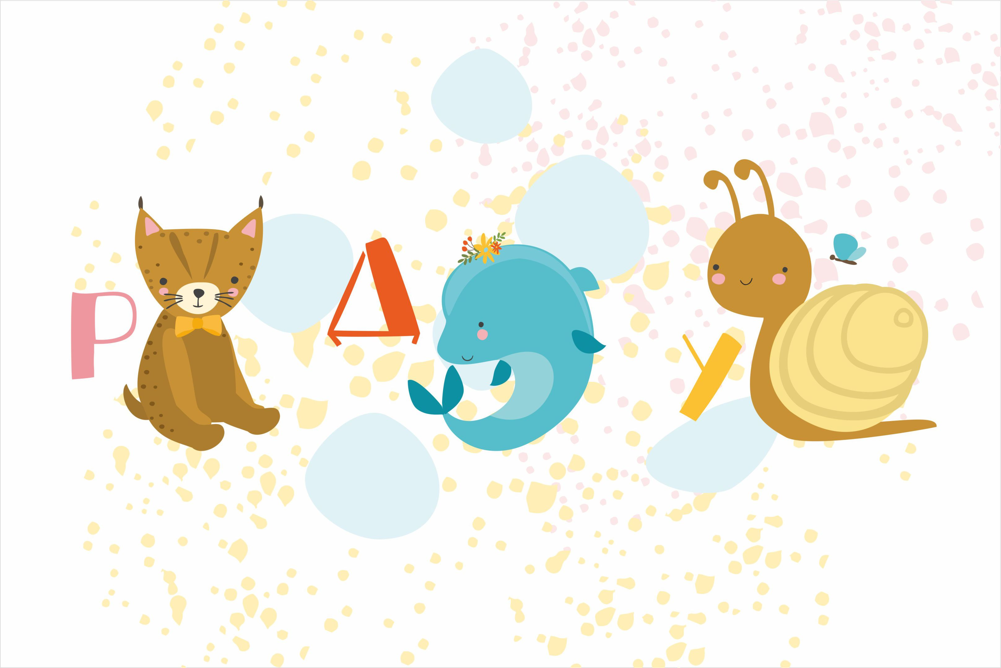 Russian alphabet with animals/ kids example image 3