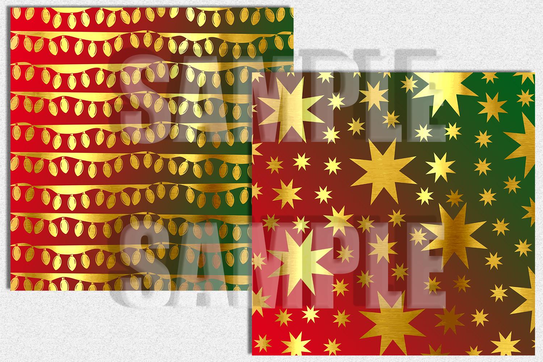 Gold christmas Digital Paper, Digital Background example image 2