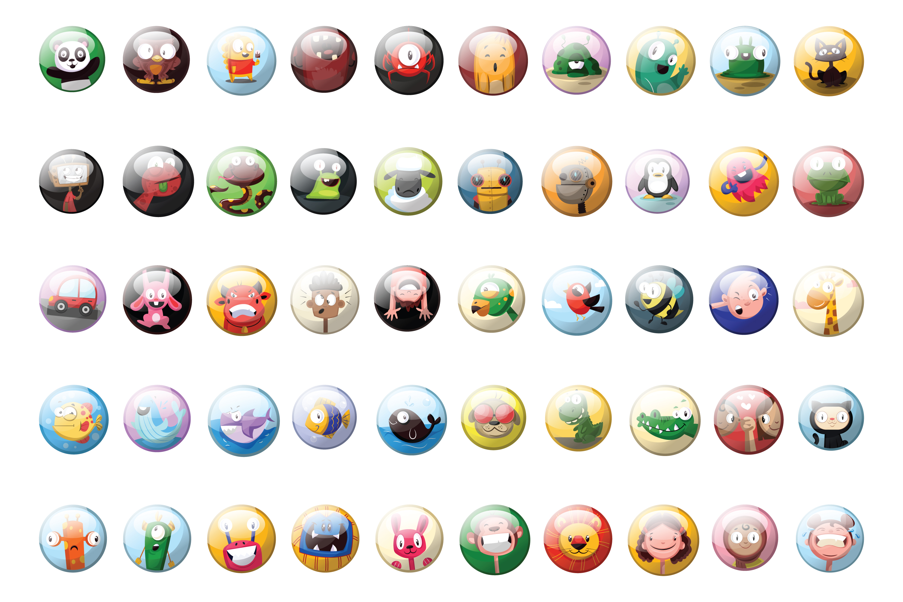 50x Vector Badges, Buttons or icons design! example image 2