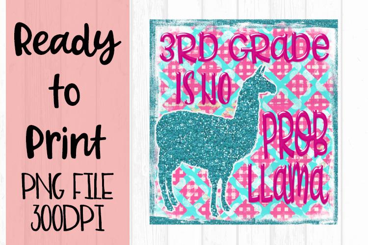 3rd Grade is No Probllama Ready to Print example image 1