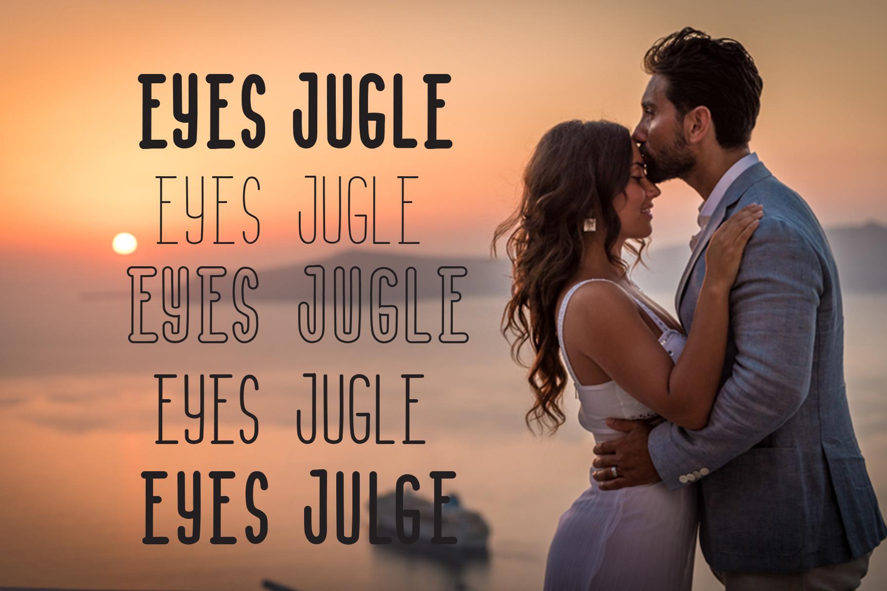 Eyes Jugle Family Font example image 4