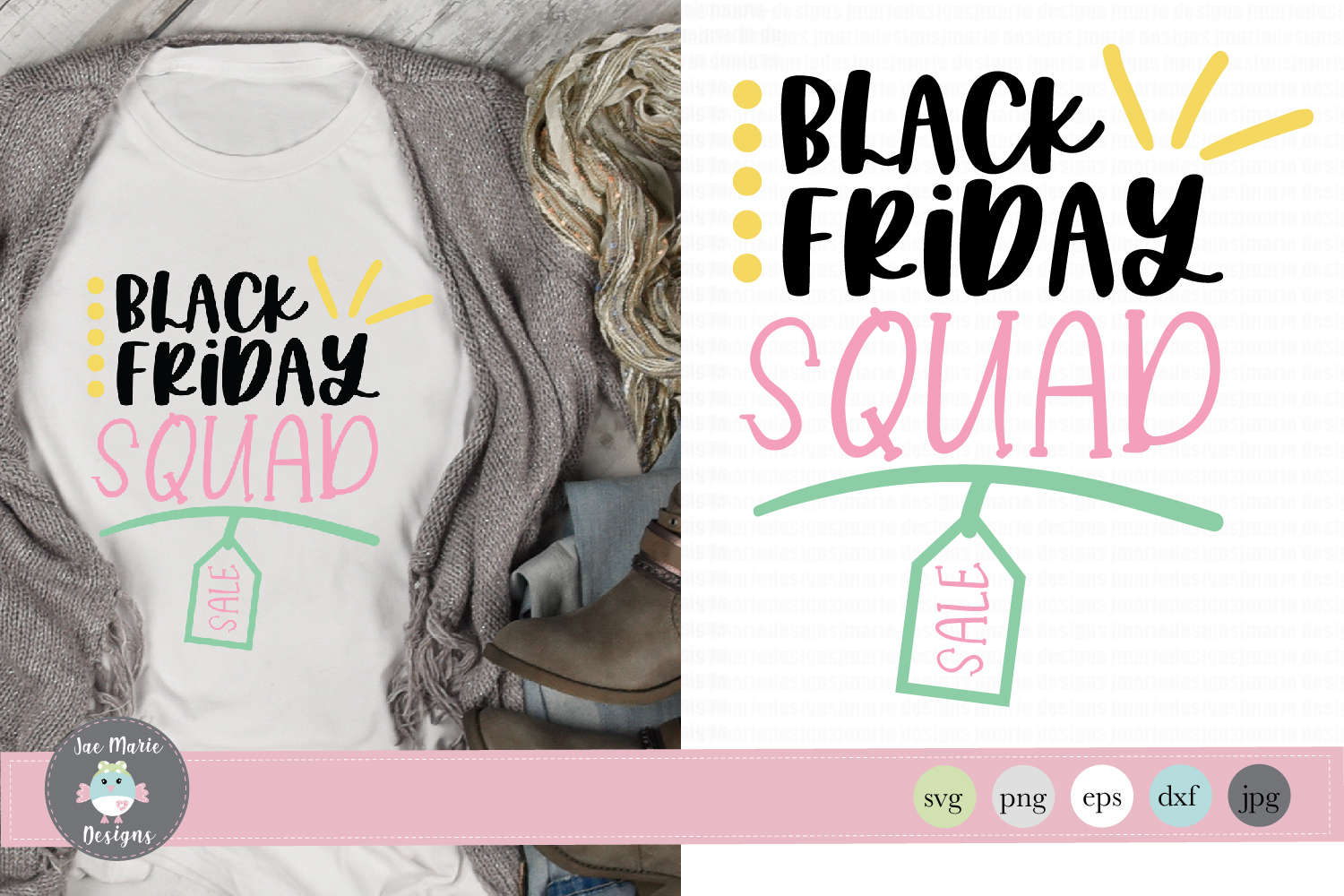 Black Friday Squad SVG, Thanksgiving family svg example image 1