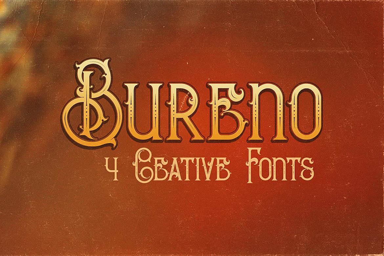 Bureno - Decorative Font example image 1