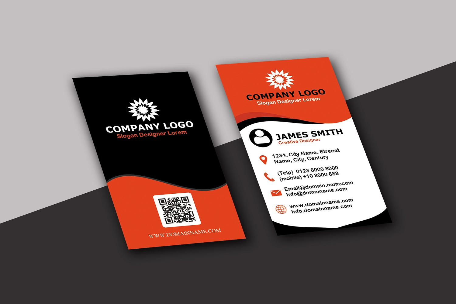 Vertical Modern Business Card example image 5
