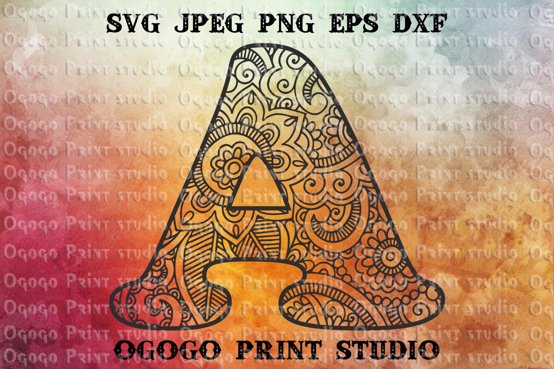 Alphabet svg, Letter SVG, Initial svg, monogram svg, Alphabe example image 1