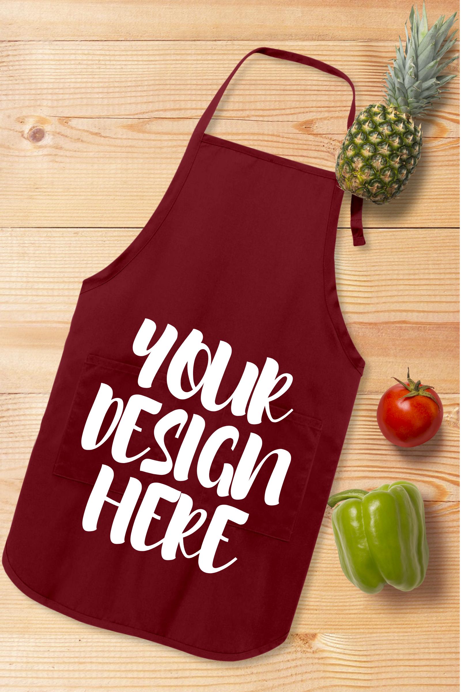 Apron Mock Ups Bundle With Kitchen Theme - 6 example image 6