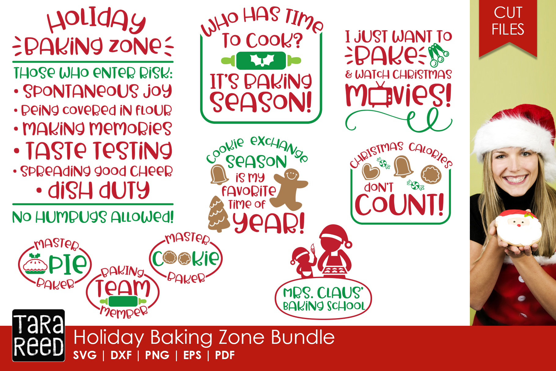 Christmas in the Kitchen MEGA Bundle - Crafter SVG Files example image 4