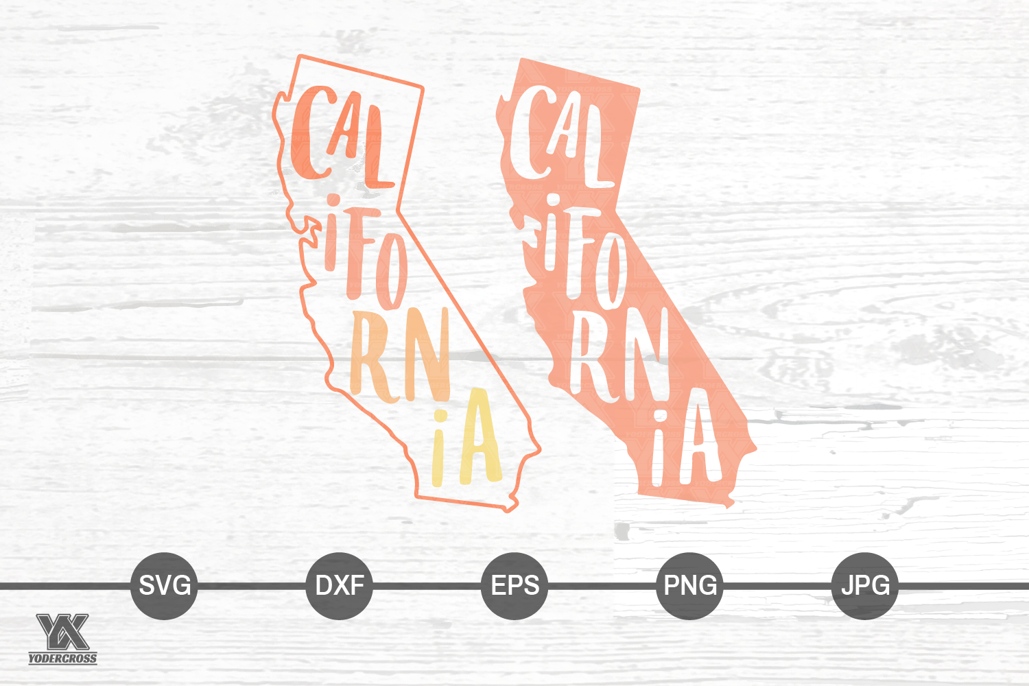 California SVG Set example image 2