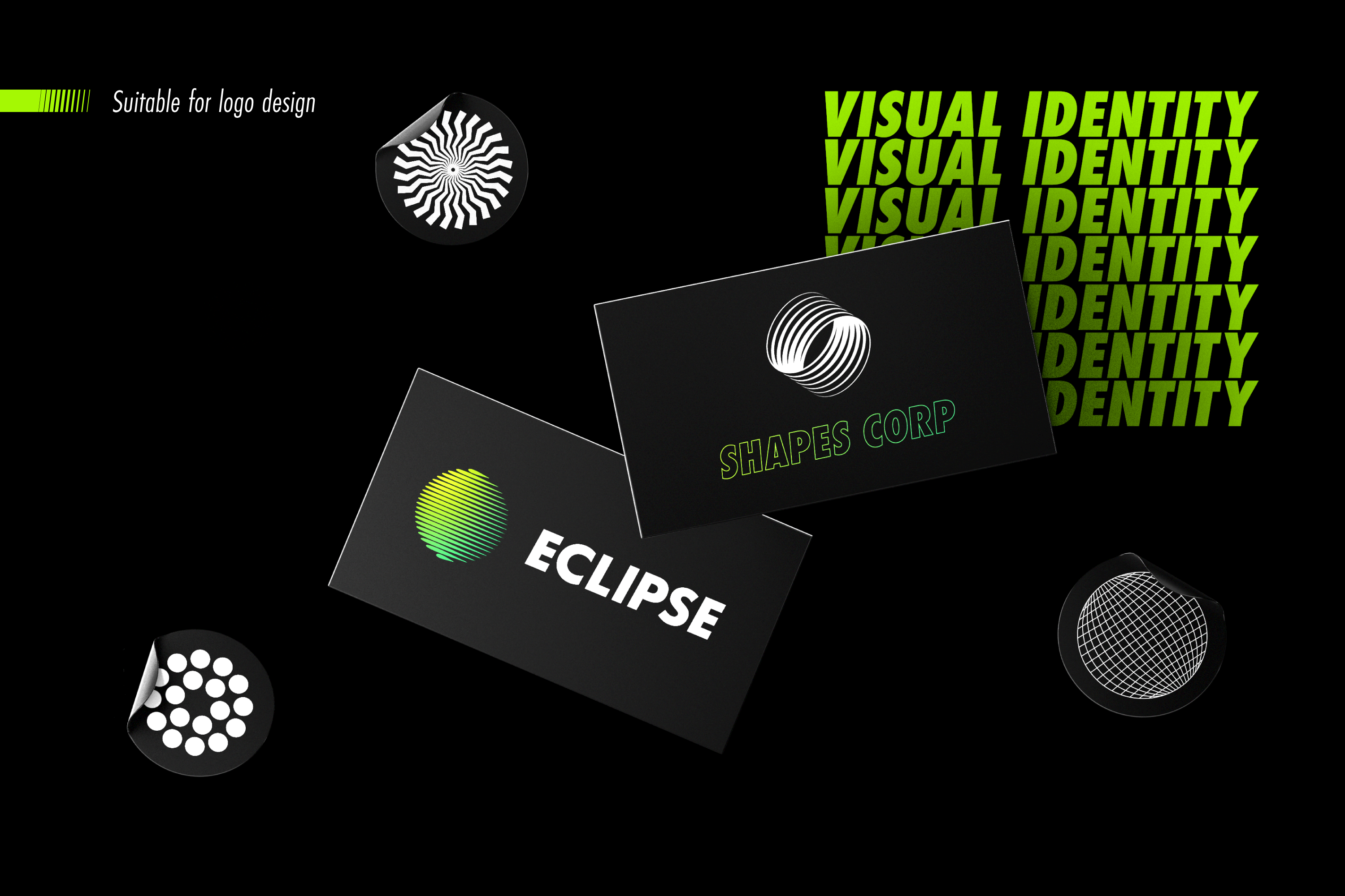 Abstract Shapes collection - 100 design elements example image 7
