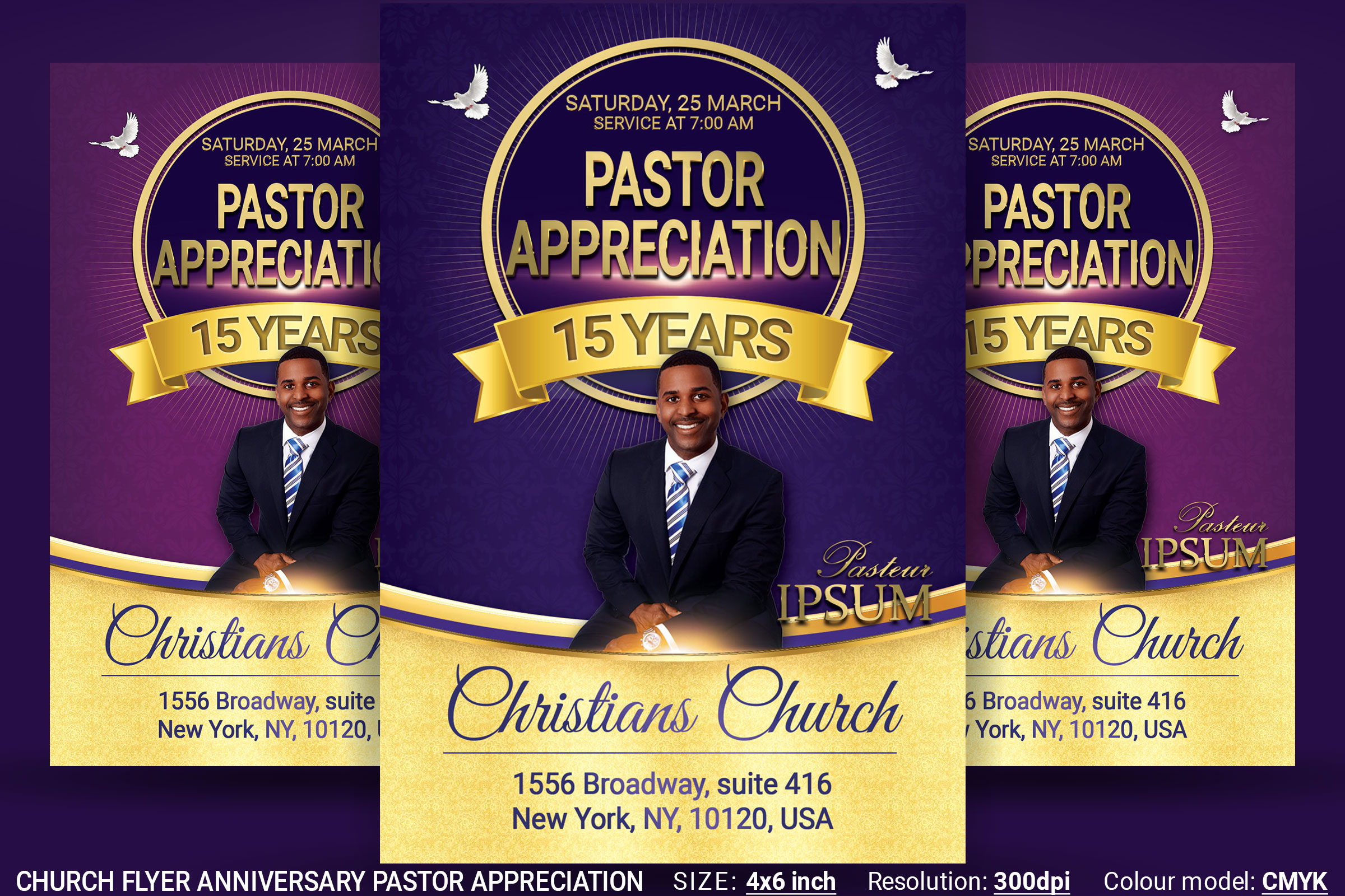 Church Flyer Anniversary Pastor Appreciation Example Image 1