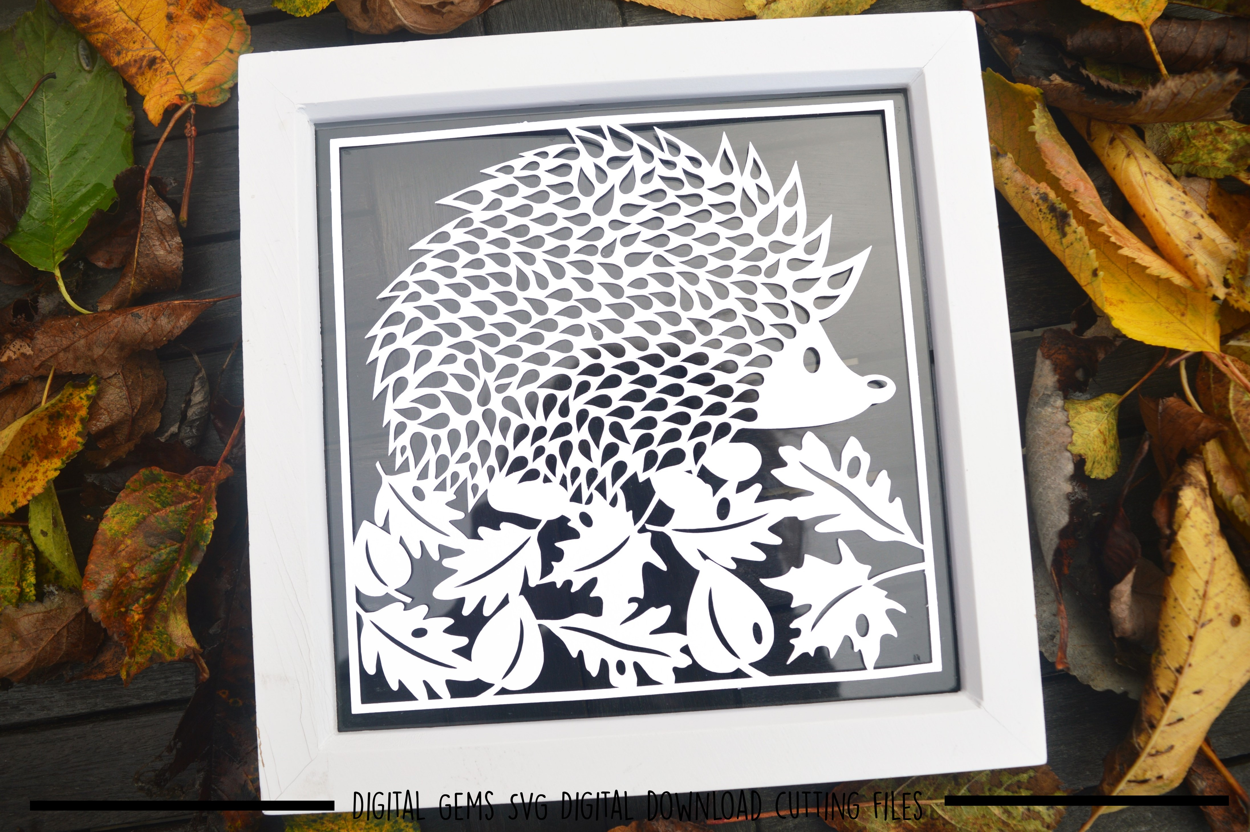 Hedgehog paper cut SVG  DXF  EPS files example image 2