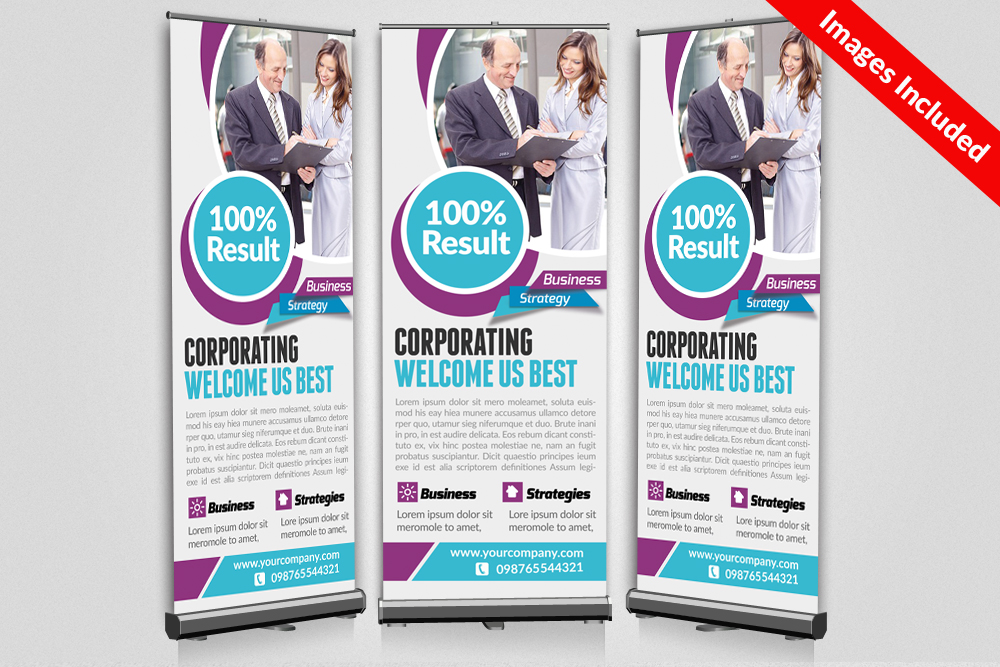 Business Roll Up Banner Templates example image 1