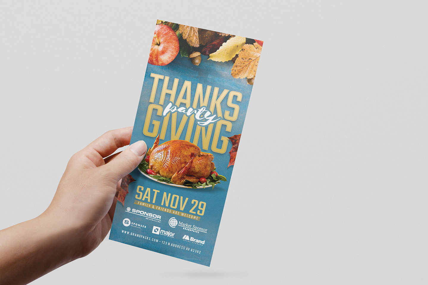 Thanksgiving Flyer Template example image 8