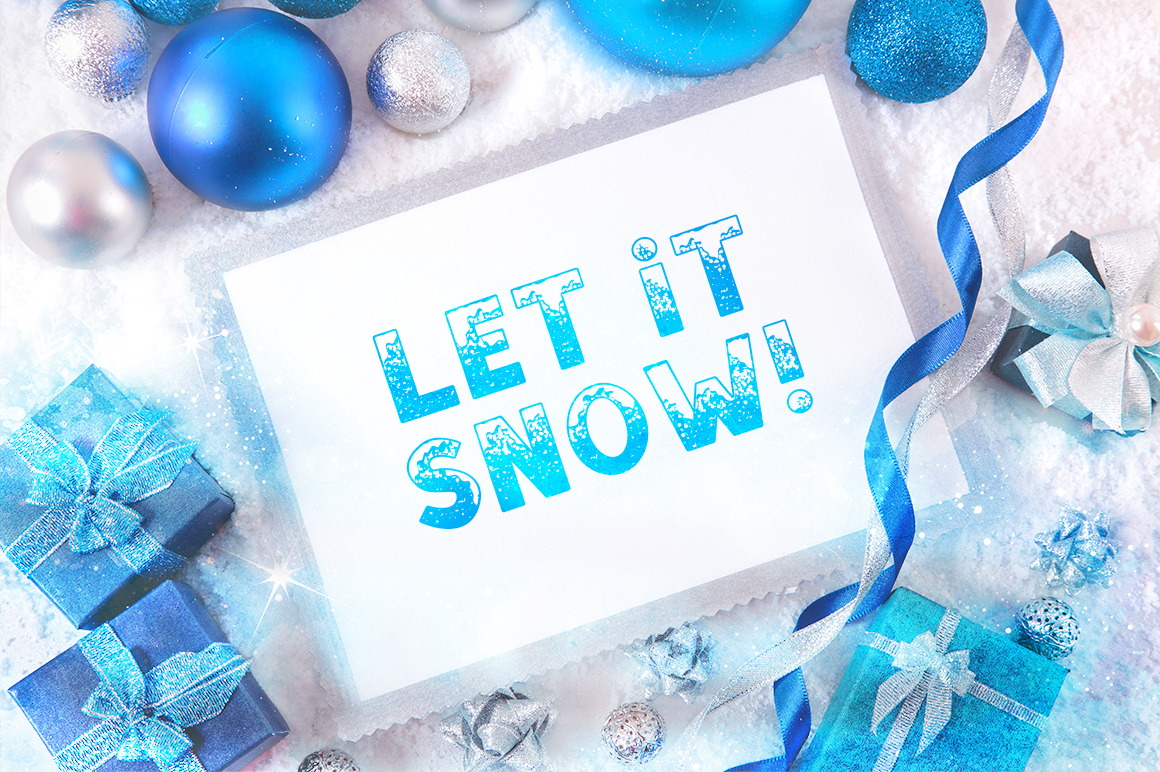 SNOW - Font Family for Christmas! example image 6