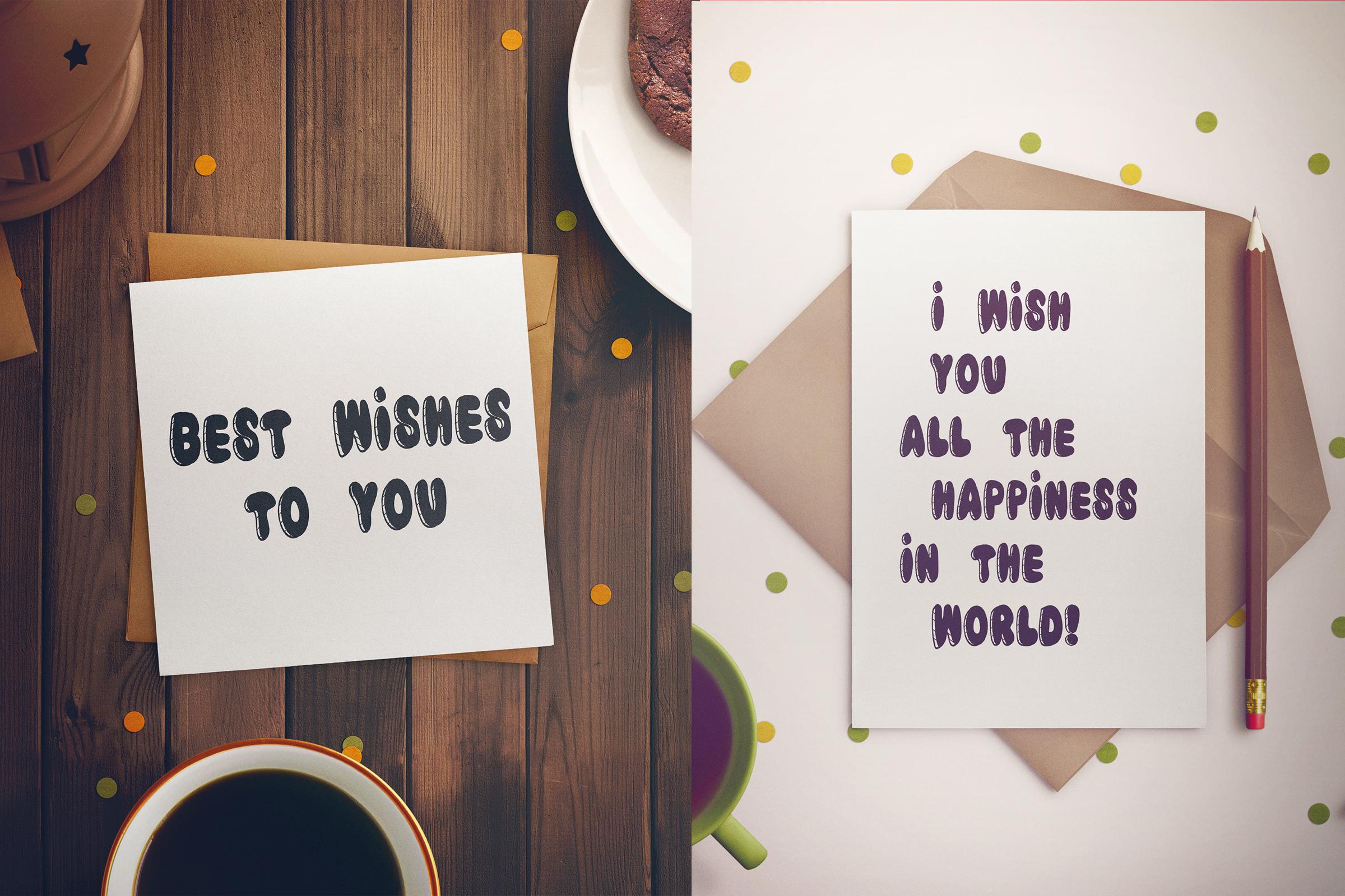 Birthday Cake Font example image 3