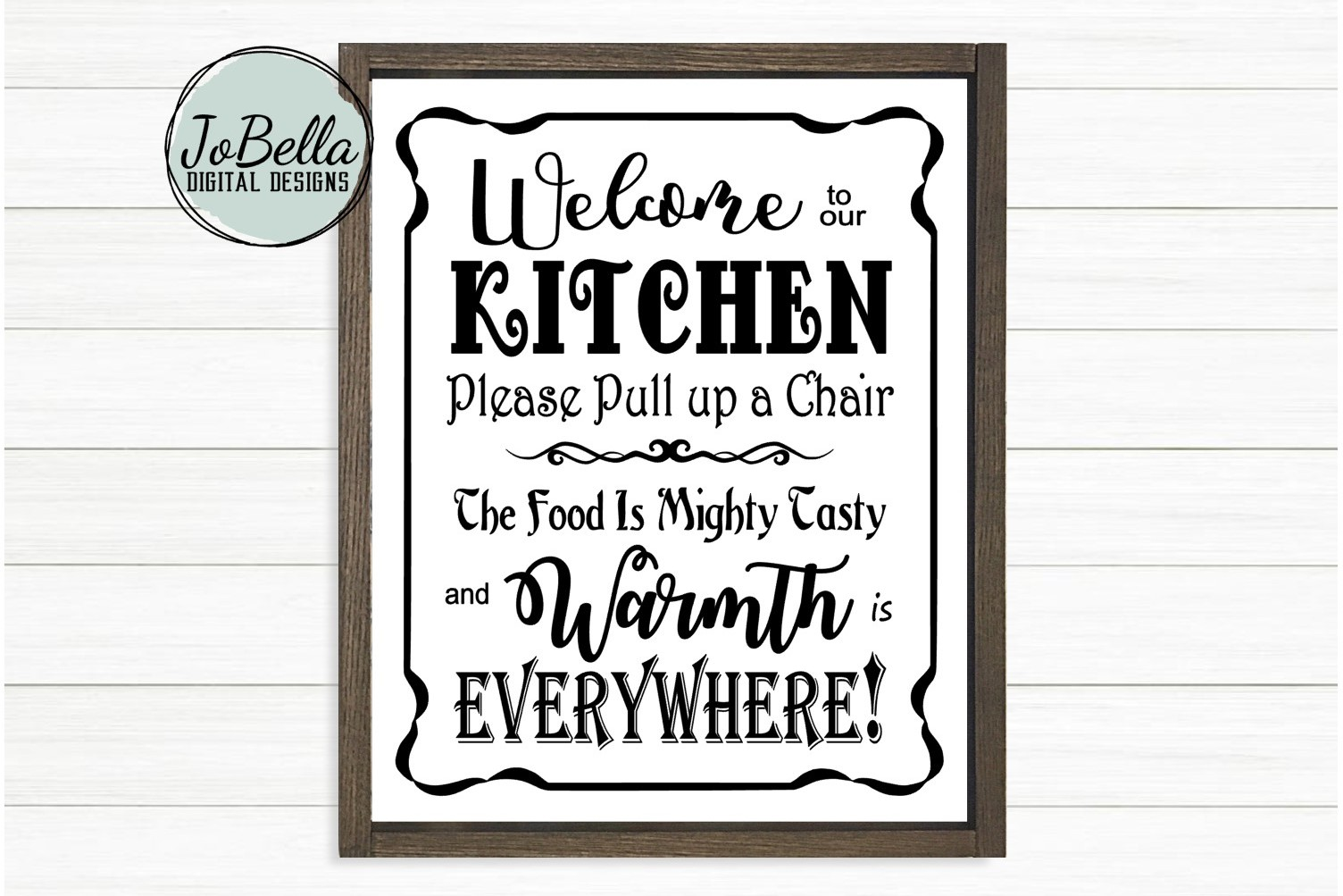 Welcome To Our Kitchen SVG and Printable Farmhouse Design example image 1