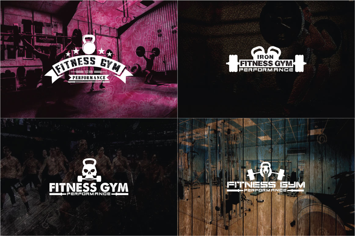 83 fitness gym bundle Logos Labels & Badges example image 2