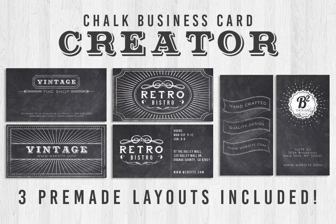 Chalk Business Card Creator example image 1