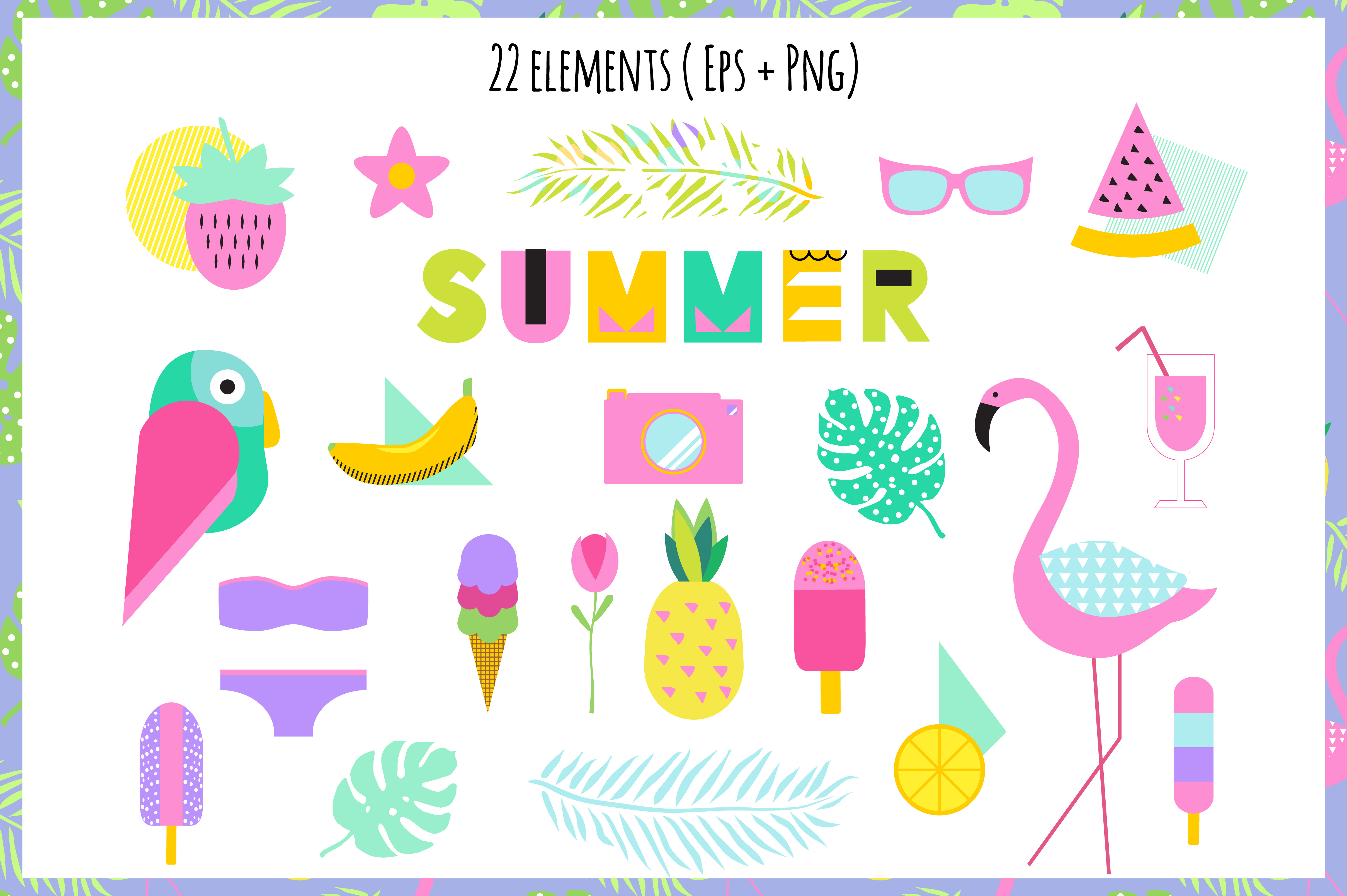 Creative Summer Set Eps Png example image 2