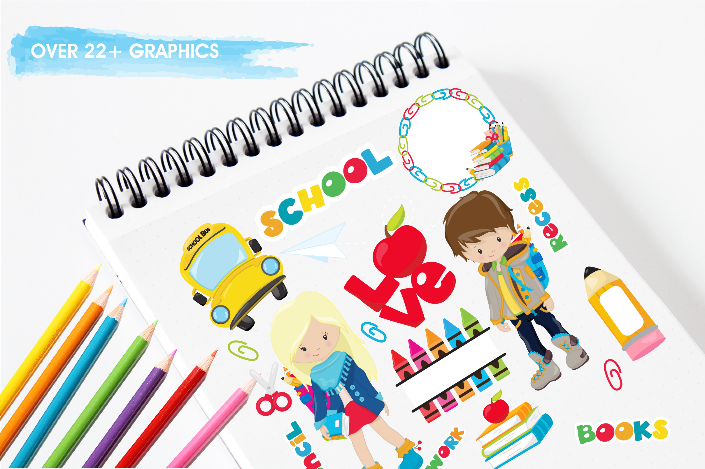 Back to school graphics and illustrations example image 3