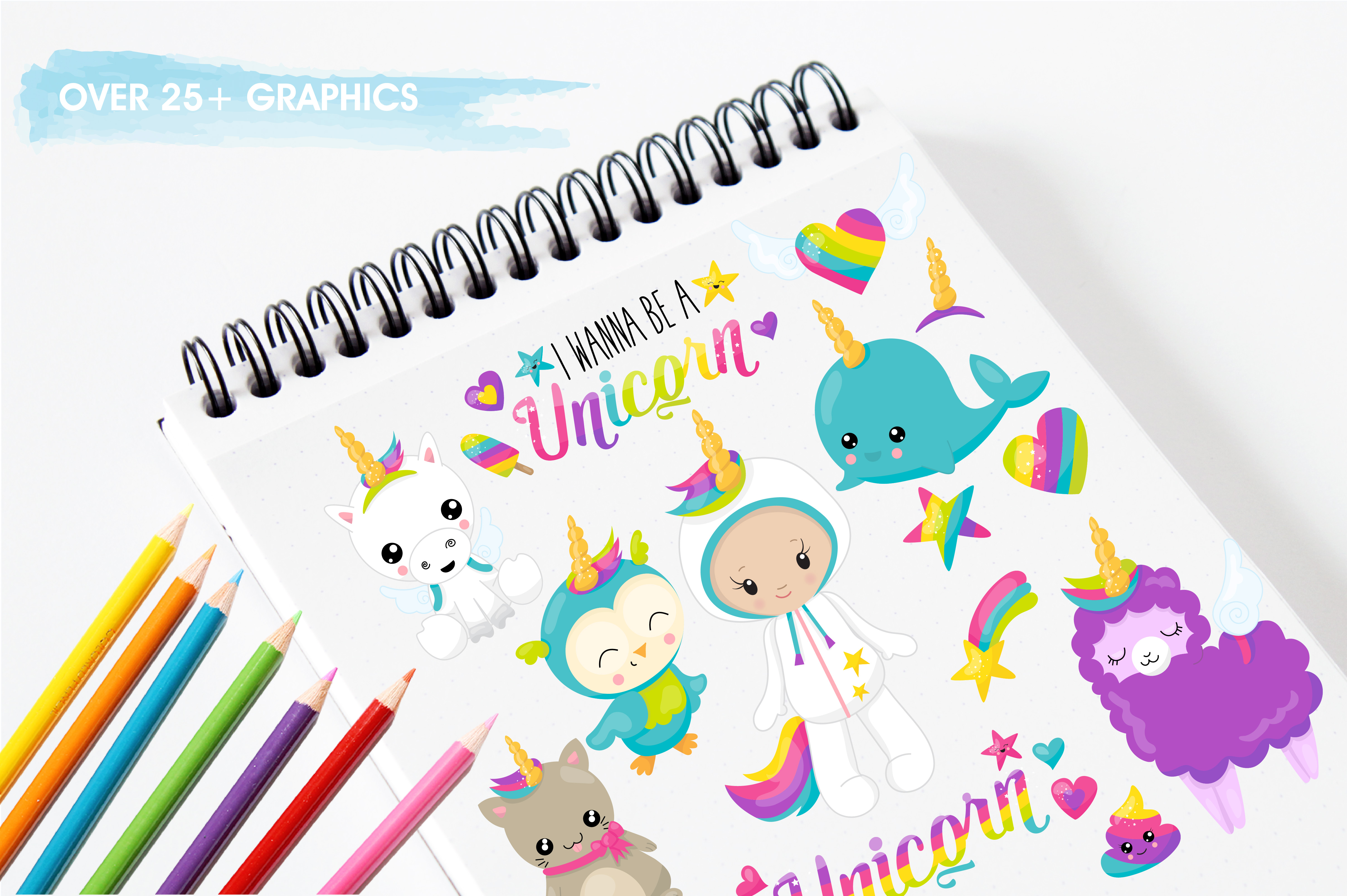 Wannabe unicorn graphics and illustrations example image 3