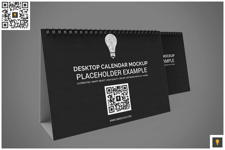 Desktop Calendar Mockup example image 6