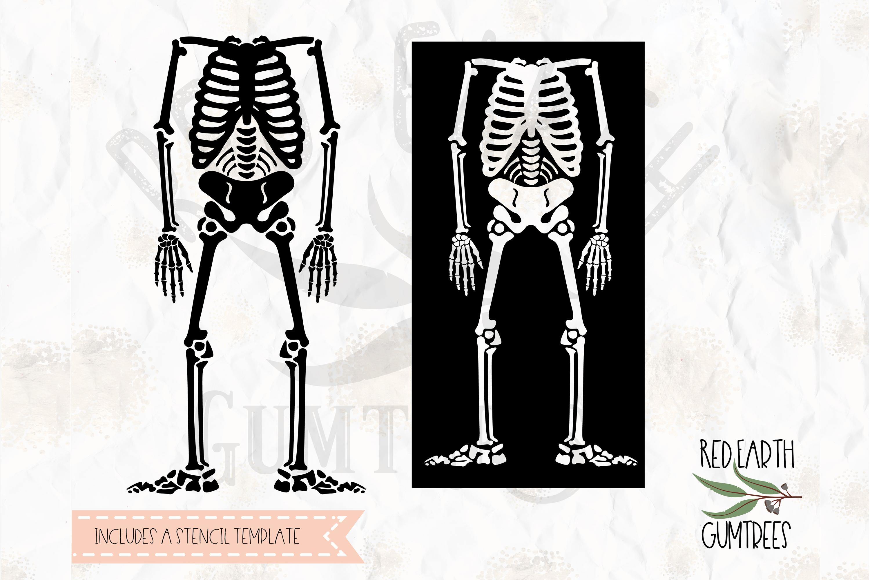 halloween skeleton  skeleton stencil template in svg dxf png