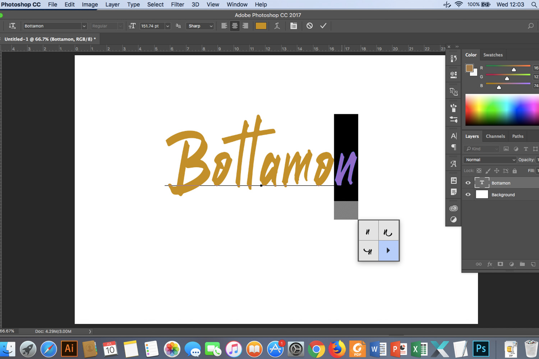 Bottamon Font Display example image 13
