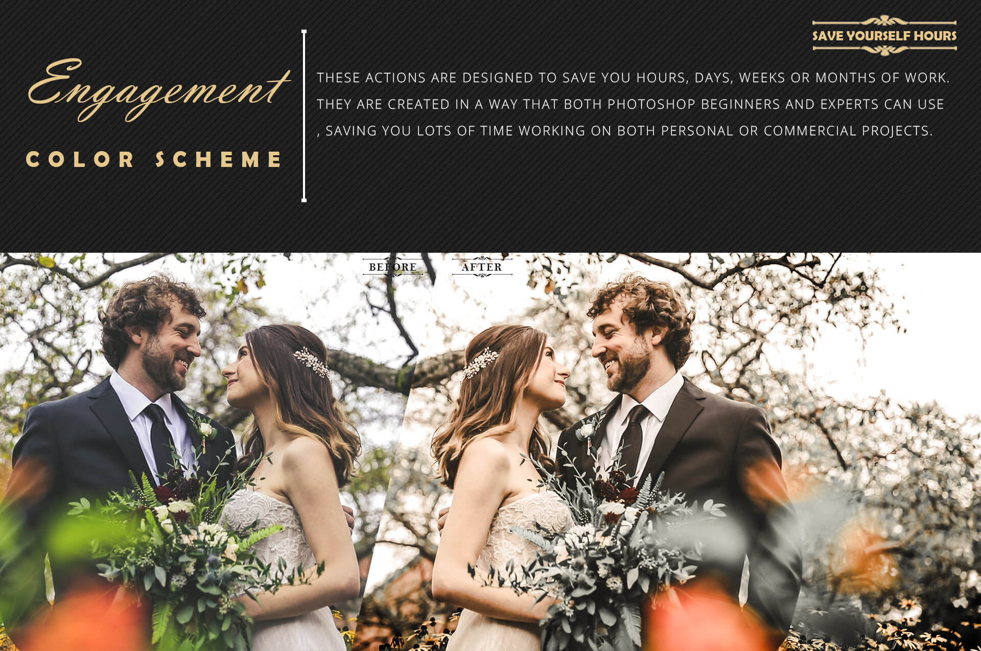 Engagement Color Grading Photoshop actions Filter example image 6