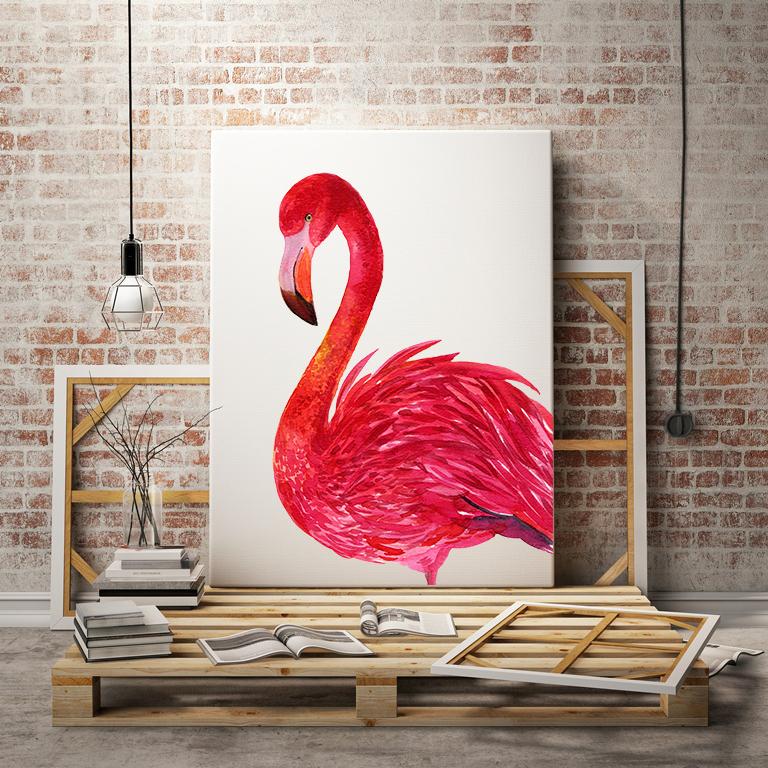 Flamingo.birds clipart. Watercolor Illustration example image 5