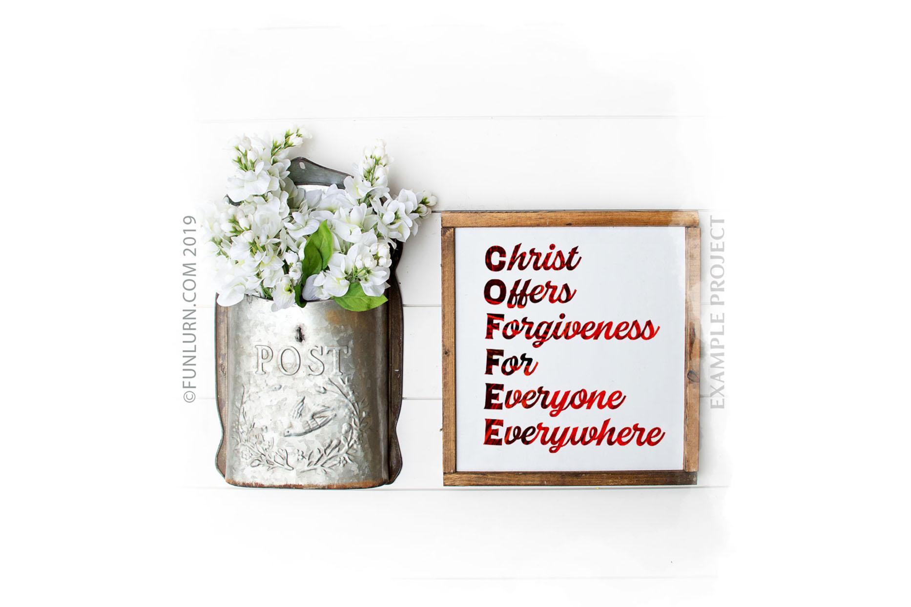 C.O.F.F.E.E. Christ Offers Forgiveness For Everyone SVG example image 3