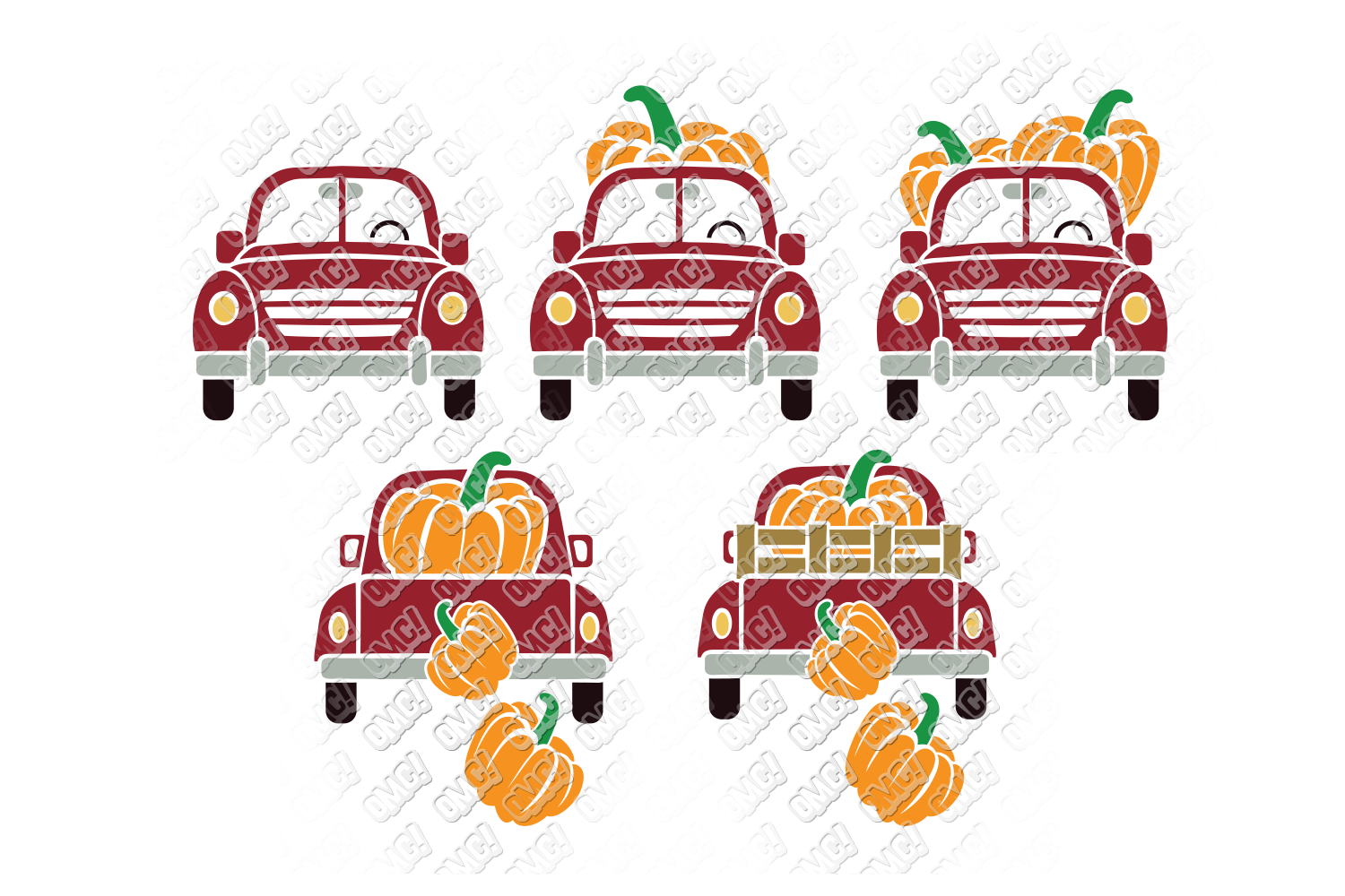 Vintage Pumpkin Truck Fall in SVG, DXF, PNG, EPS, JPEG example image 4
