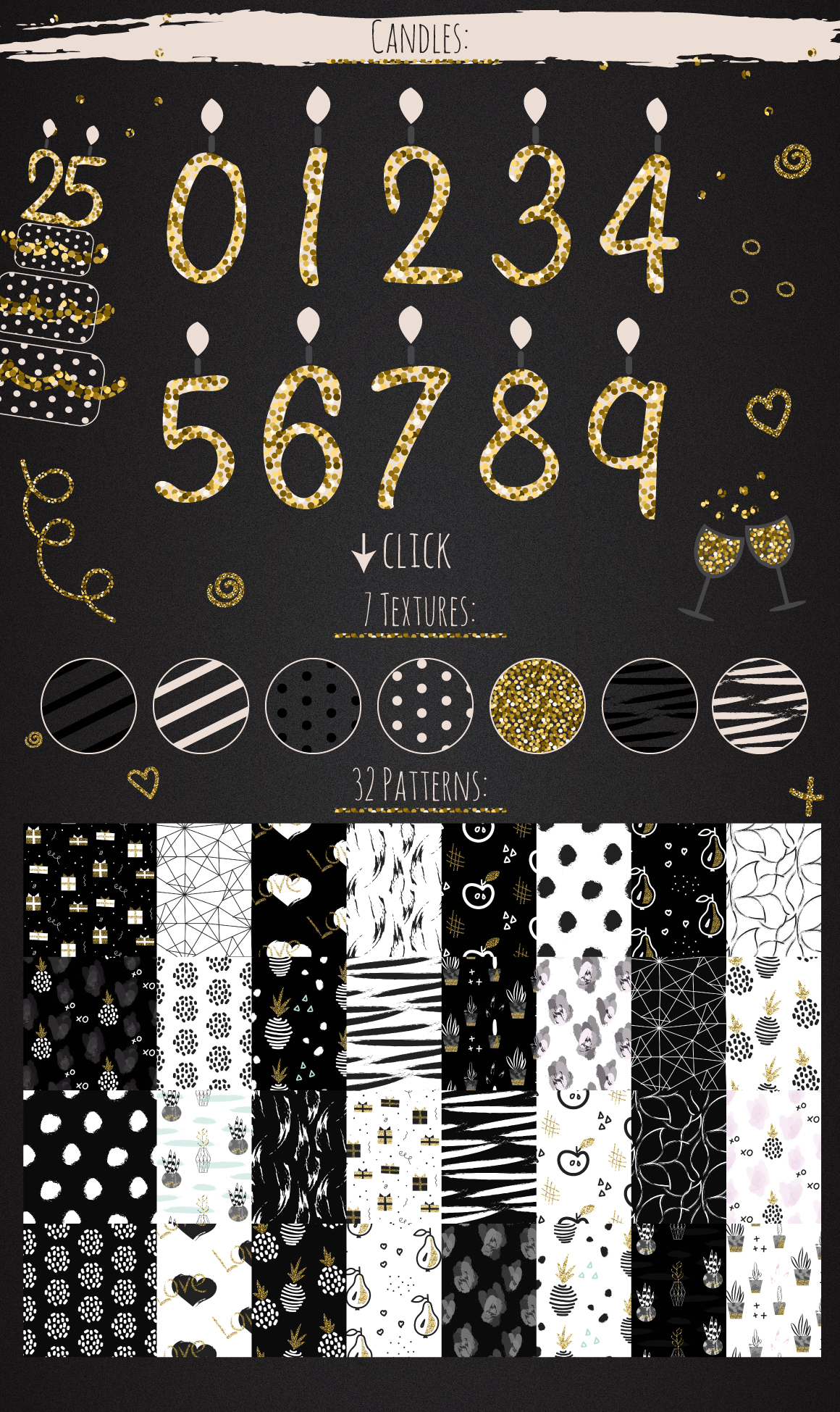 DIY Glam Party Kit - 100 elements! example image 5