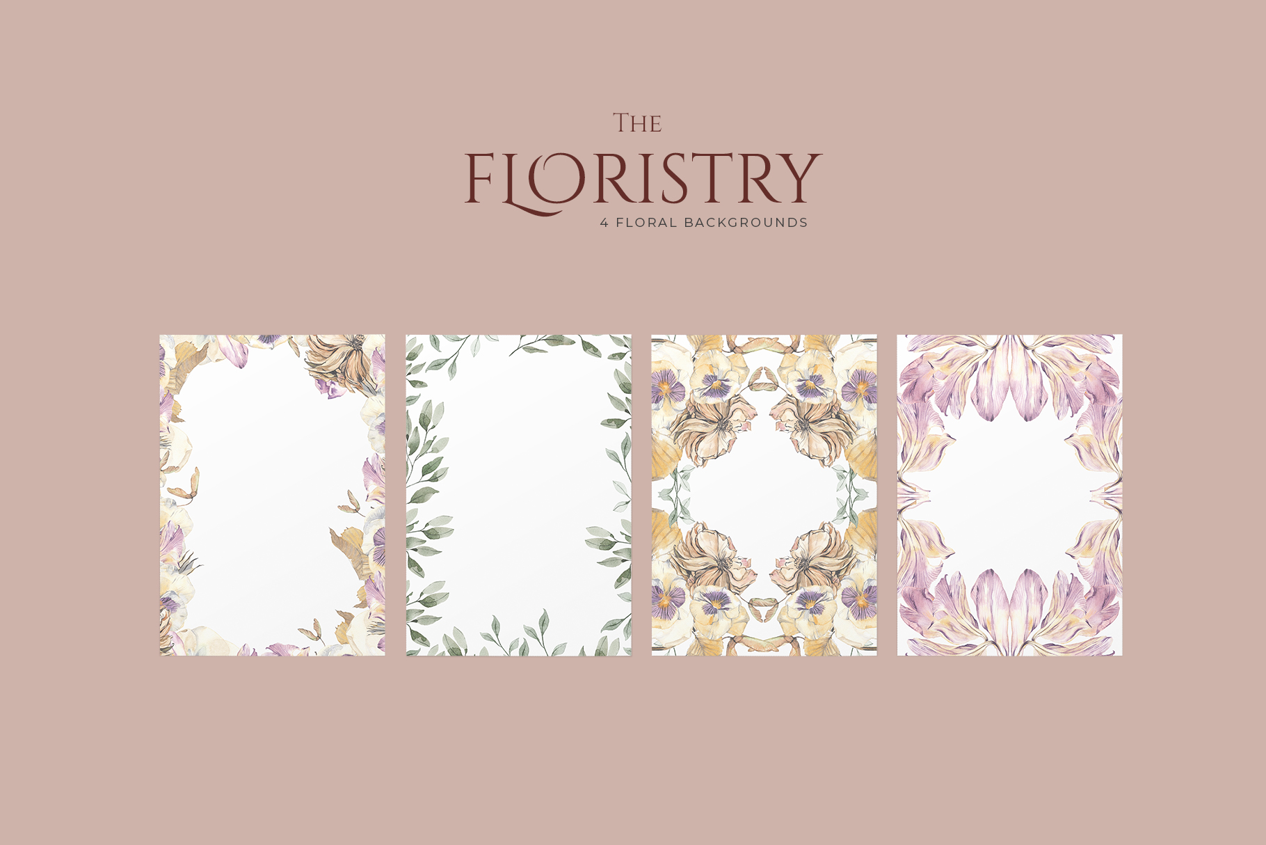 THE FLORISTRY floral collection - watercolor, line art, real example image 6