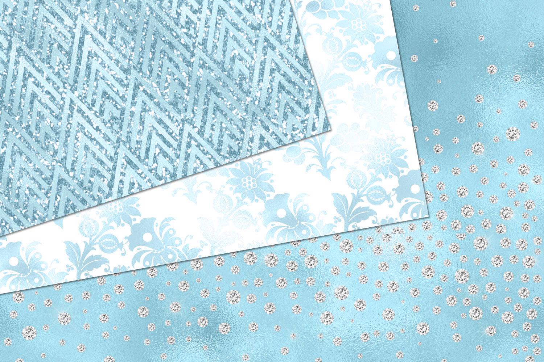 Glitzy Blue Digital Paper example image 3