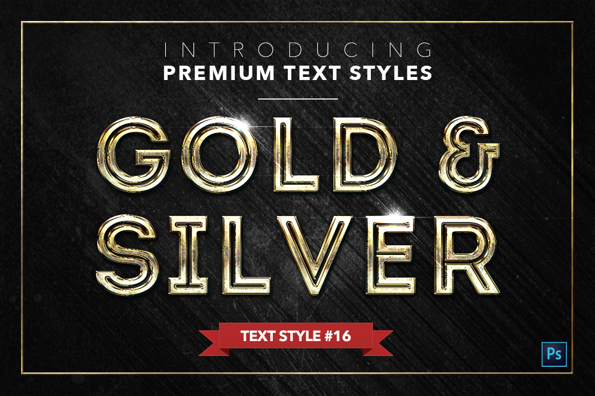 Gold & Silver #2 - 20 Text Styles example image 9