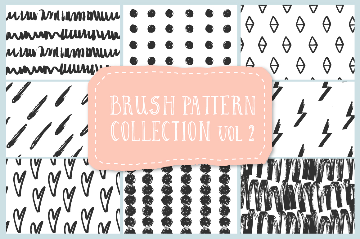 Brush pattern collection vol2 example image 1