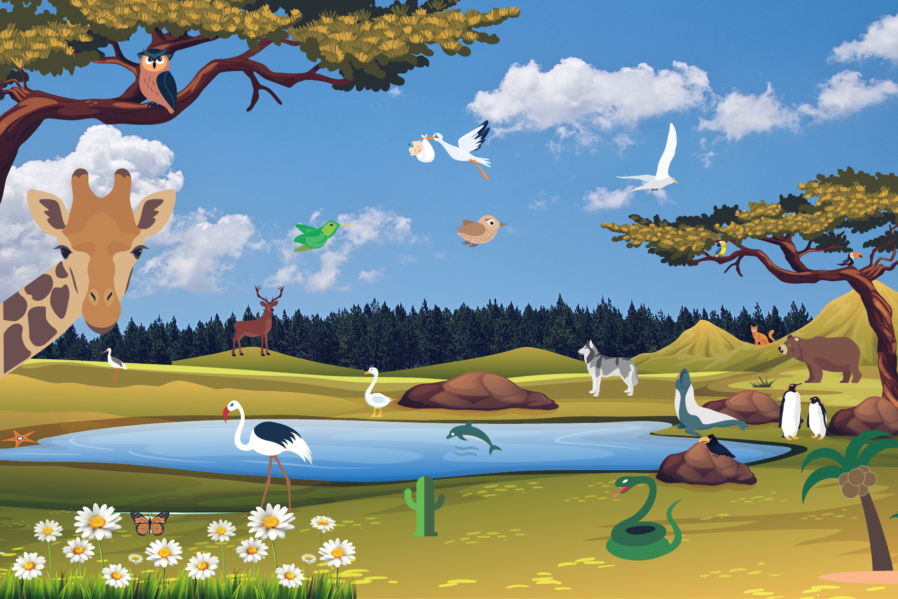 Animals, Birds, Insects Vector Icons example image 4