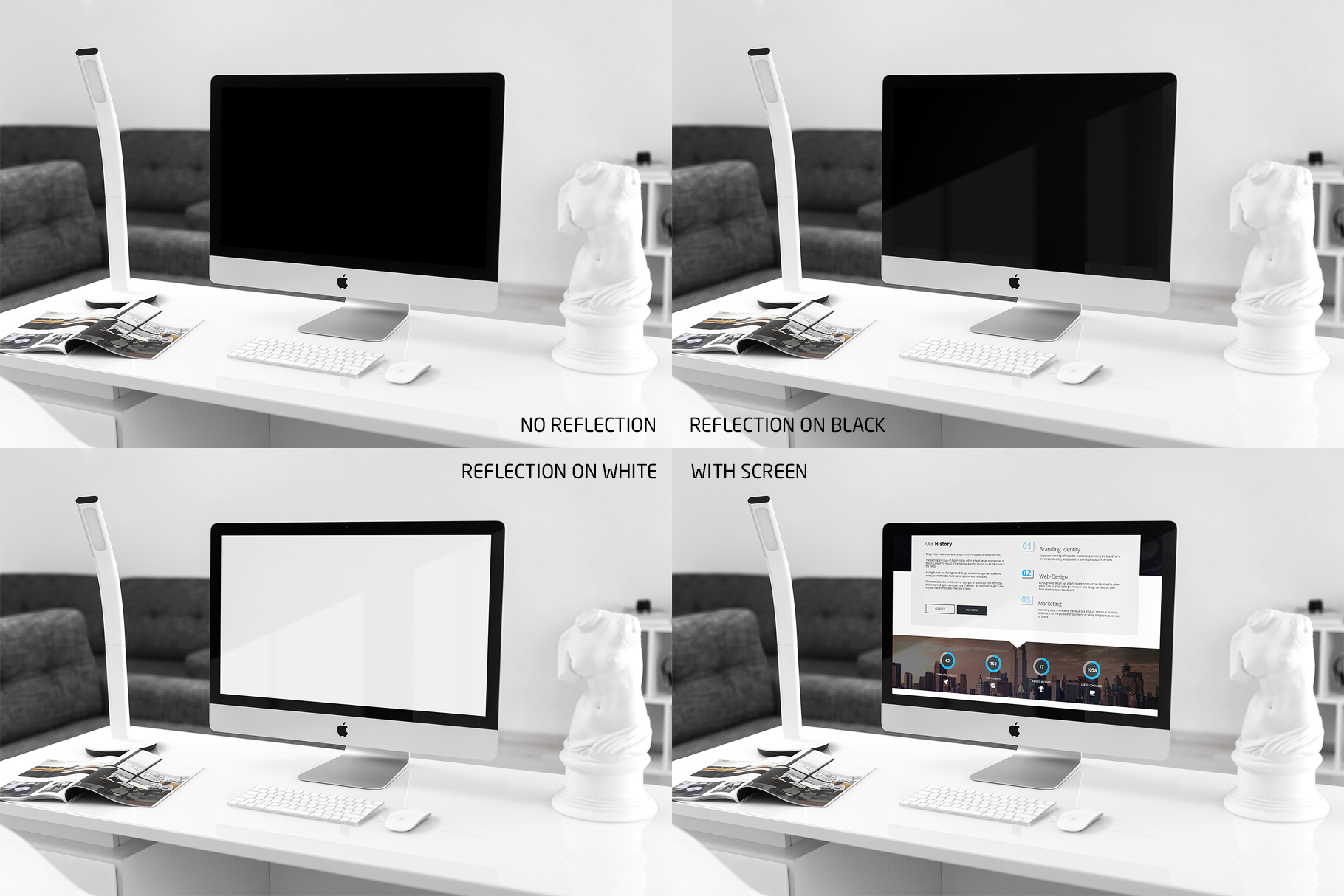 iMac Mock-Up's Clean Style example image 6