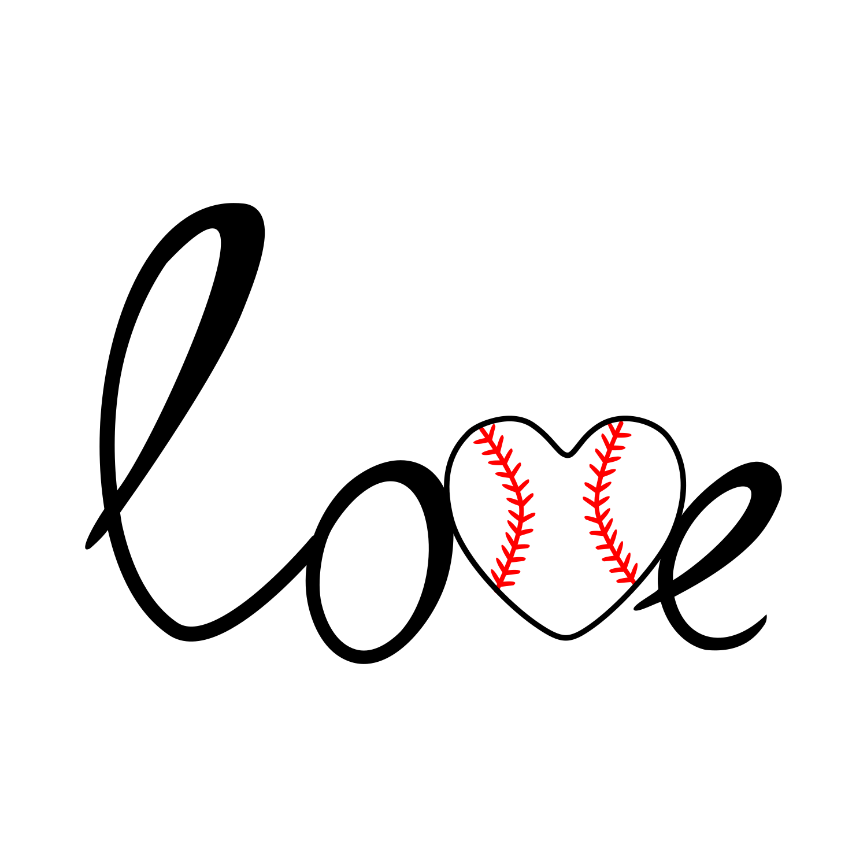 Baseball love svg example image 1