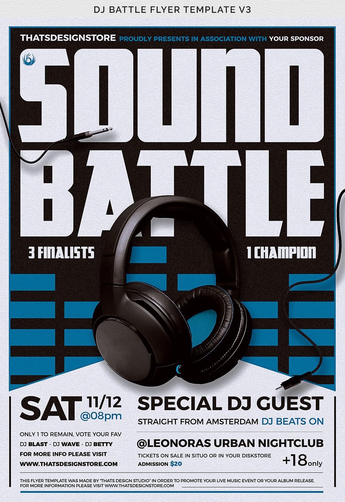 DJ Battle Flyer Template V3 example image 12