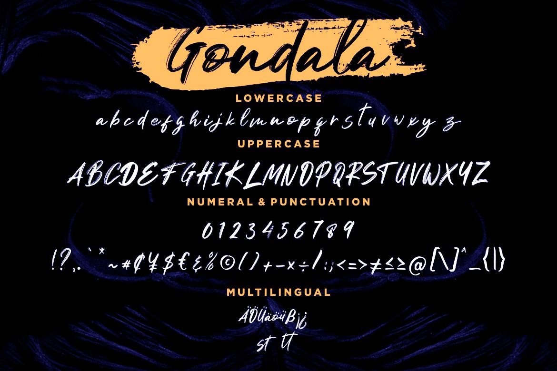 Gondala Handbrush Typeface example image 7