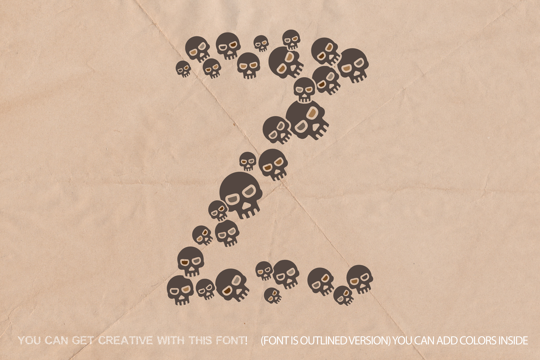 Skulls Font - Fun Craft Font Paper Cut Style example image 2