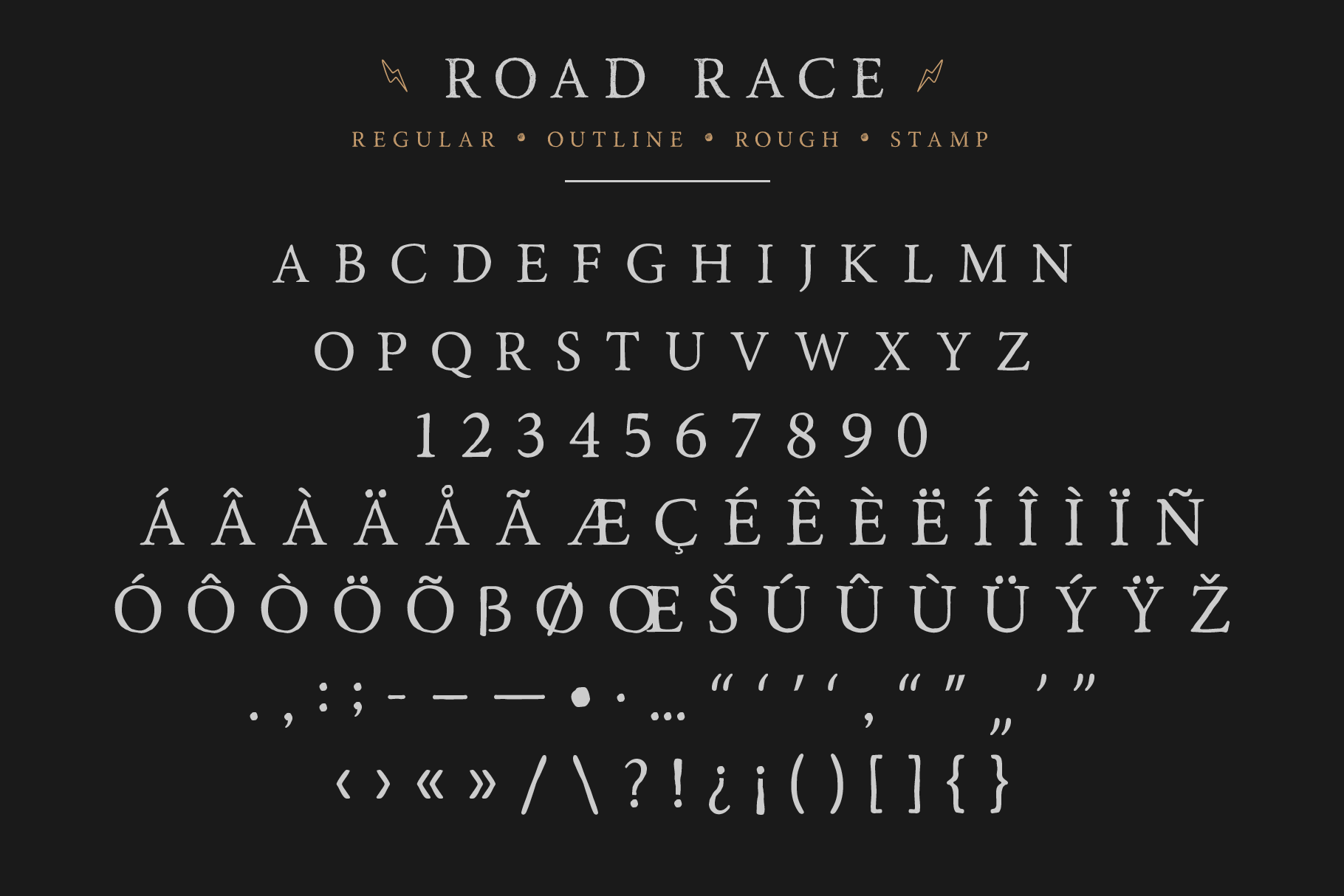 Road Race Font Family Extras example image 3