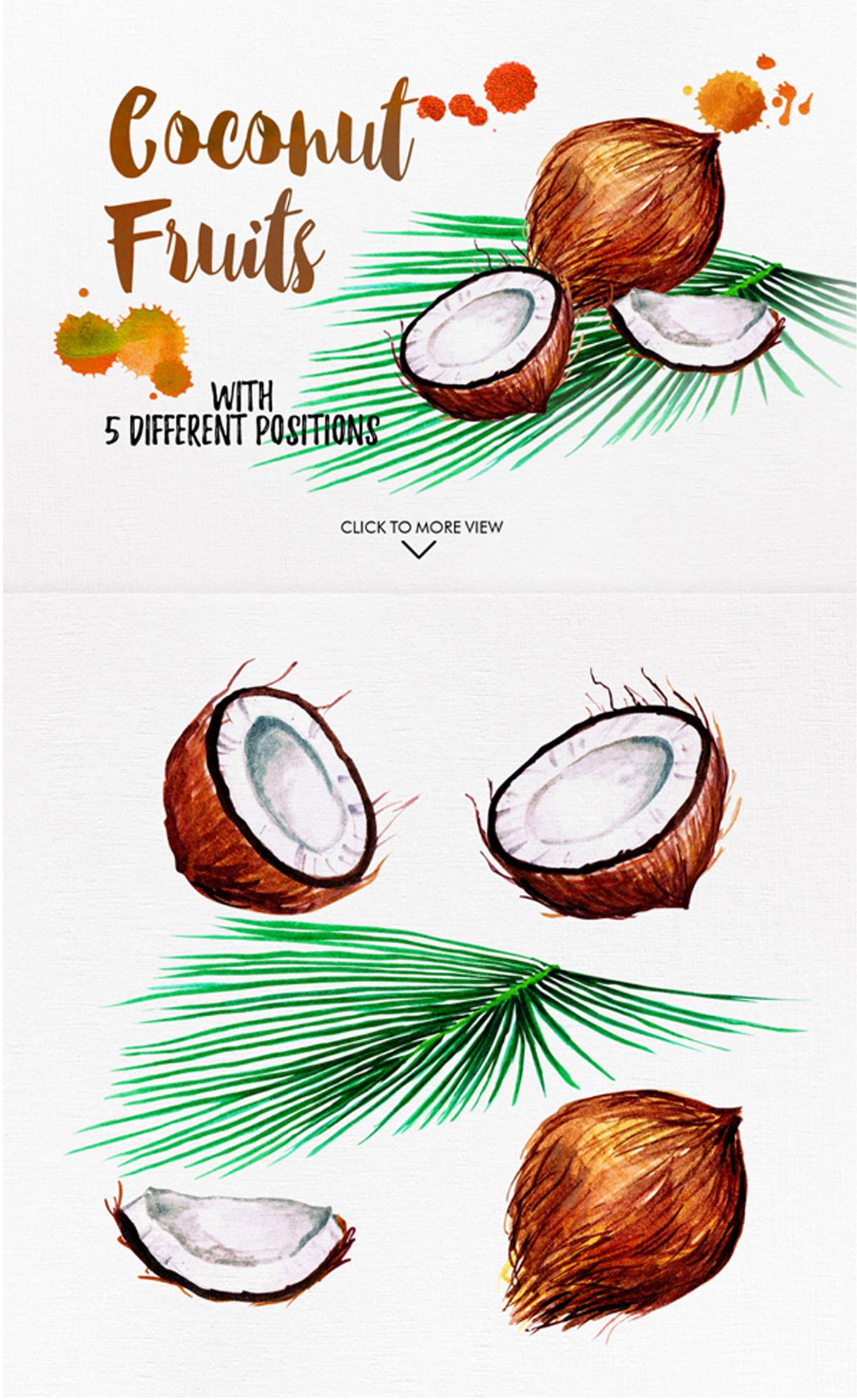 watercolor fruits vol. 6 example image 3