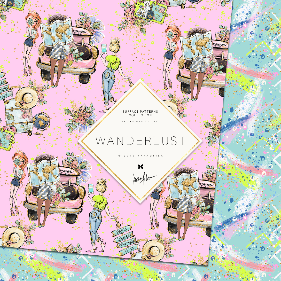 Wanderlust Patterns example image 3
