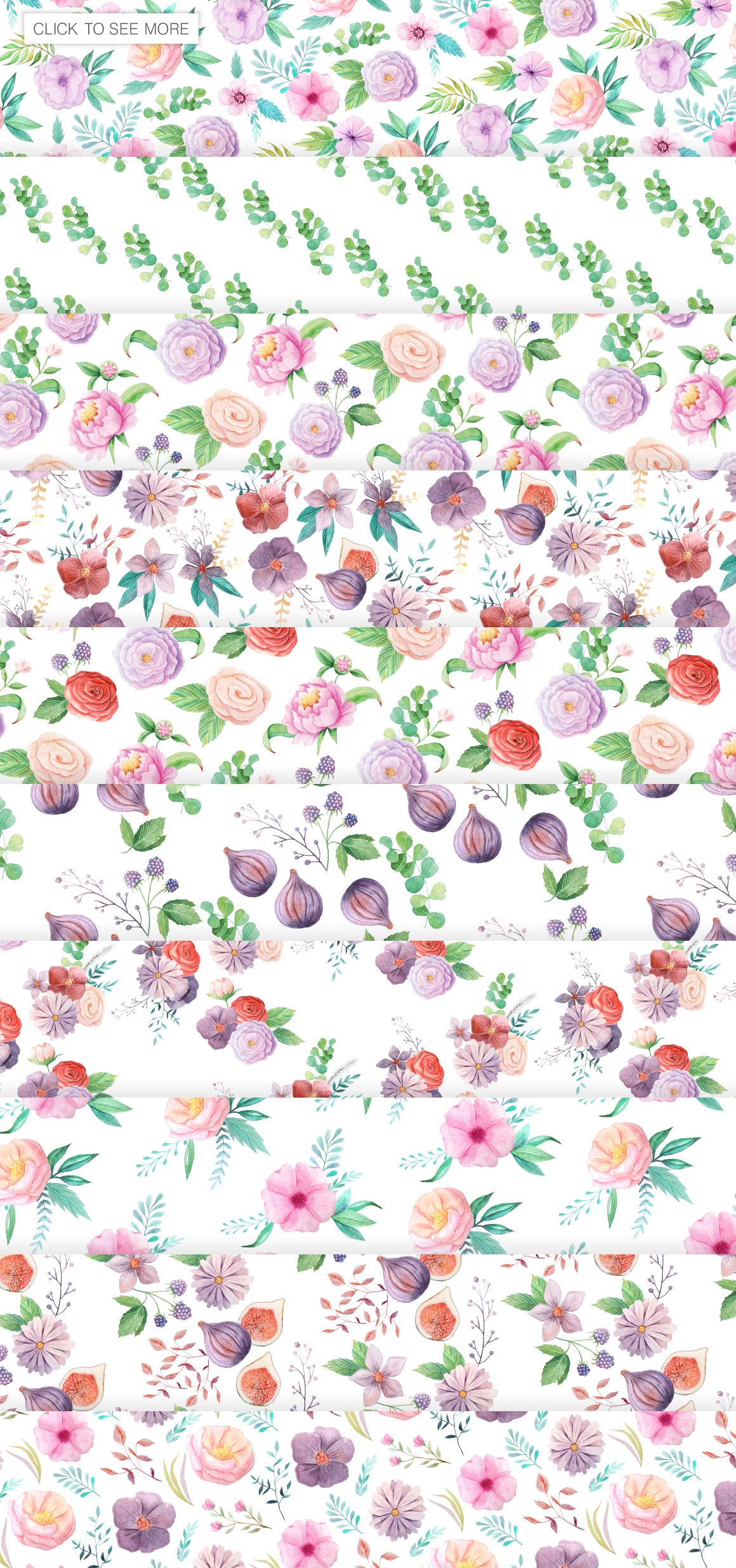 Summer Floral Seamless Patterns example image 2