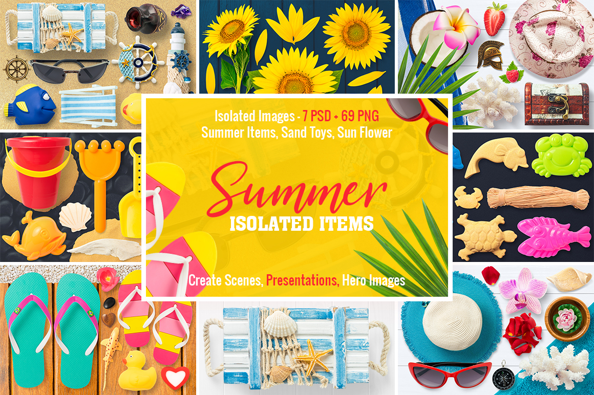 Isolated Summer Items example image 1