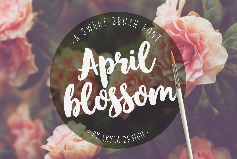 Bold script brush font, April blossom example image 1