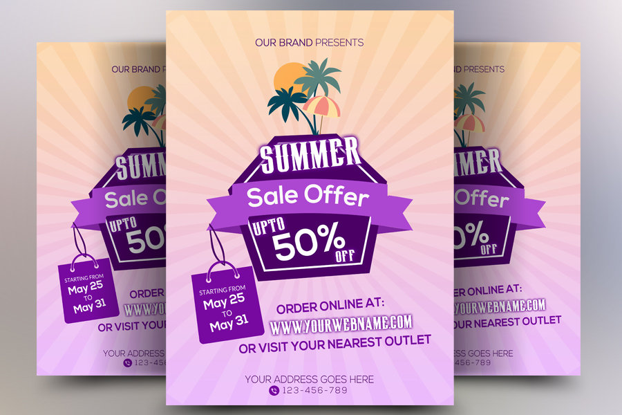 Summer Sale Flyer Template example image 1
